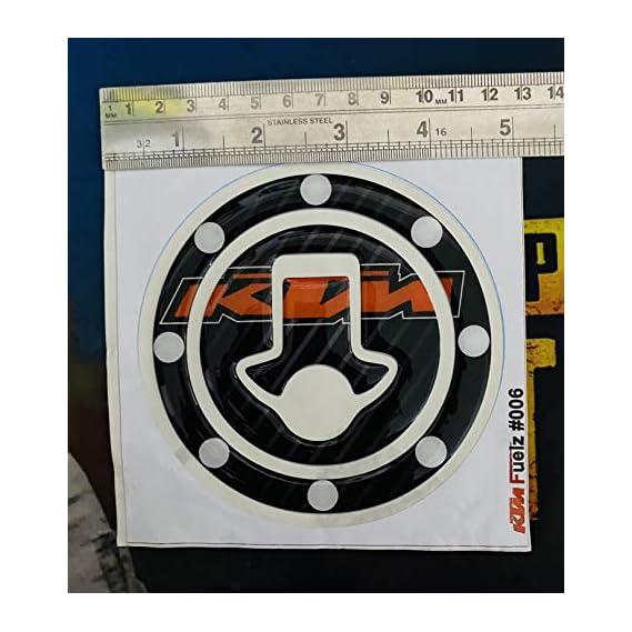 AUTO MT Tank Pad for KTM Duke/Rc 125, 200, 390 Customize Tank Cap Sticker or Fuel Cap Pad Protector