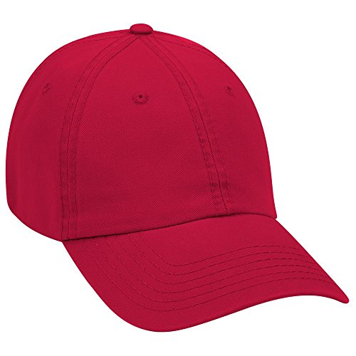 Product of Ottocap Garment Washed Superior Cotton Twill Six Panel Low Profile Dad Hat -Red [Wholesale Price on Bulk]