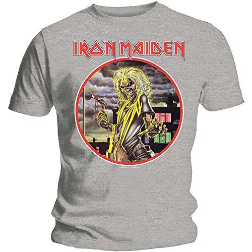 Rockoff Trade Iron Maiden Men's Killers Circle T-shirt, Grey, X-large ()