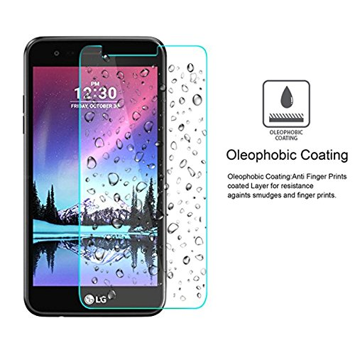 BisLinks 2 x for LG K10 2017 Tempered Glass Screen Protector Film Cover Premium Clear M250