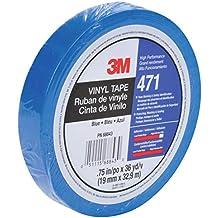 3M Vinyl Tape 471, Blue, 3/8 in x 36 yd, 5.2 mil