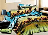 Wonderful Printed Ten Thousand Horses 4 Piece Bedding Sets,animal Print,3d Painting Duvet Cover Set, No Comforter 4pcs,queen