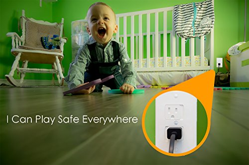 Baby Dröm Self Closing Electrical Outlet Covers, Child Proof Safety Universal Wall Socket Plugs, Automatic Sliding Cap Cover Standard Wall Outlet Plate (8 Pack) by Baby Dröm (Image #5)