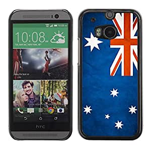 Paccase / SLIM PC / Aliminium Casa Carcasa Funda Case Cover - National Flag Nation Country Australia - HTC One M8