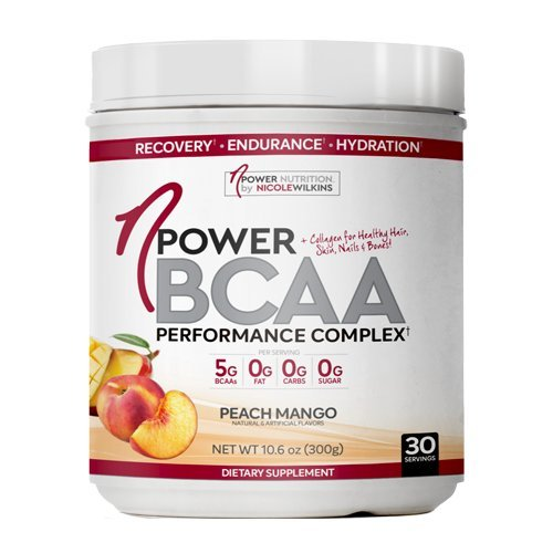 nPower Nutrition BCAA | All Natural BCAA, Collagen, Electrolyte Powder | 30 Servings | Peach Mango