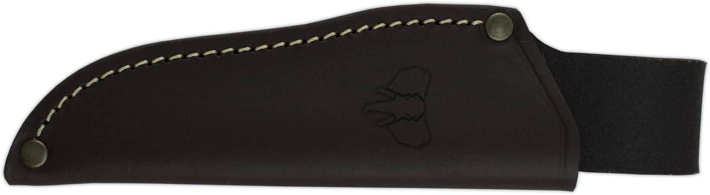 Cudeman Cuchillo Tejano 116-B Hoja de Acero Inoxidable Mova de 9 cm empu/ñadura de micarta Blanca de 11 cm para Caza Pesca Portabotellas Regalo Supervivencia y bushcraft