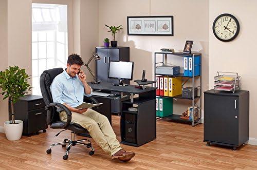 Großer Computer Schreibtisch mit 2 Schubladen und 4 Regalfächern PIRANHA PC 5o