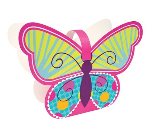 4-Count Shaped Treat Boxes, Butterfly Sparkle