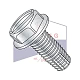 1/2-13X2 1/2 Type F Thread Cutting Screws | Slotted | Hex Washers Head | Steel | Zinc (QUANTITY: 200)
