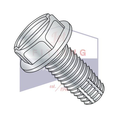 1/2-13X2 1/2 Type F Thread Cutting Screws | Slotted | Hex Washers Head | Steel | Zinc (QUANTITY: 200) by Jet Fitting & Supply Corp