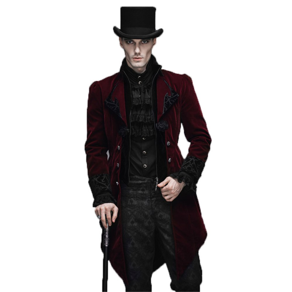 Steampunk Men's Swallow Tail Coat Gothic Winter Jacket Y-612