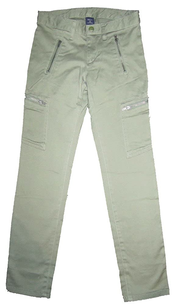 Gap Kids Girls Green Super Skinny Moto Zip Pants 5
