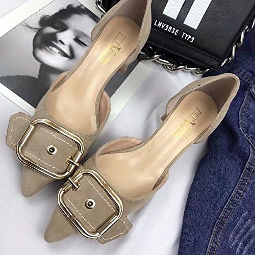 bouche simples blanc chaussures 35 sauvage le avec satin Shallow Chaussures femmes plat S76Twx6I