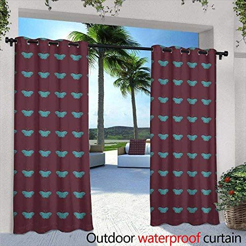- Lightly Outdoor- Free Standing Outdoor Privacy Curtain,Businessman Analyzing Investment Charts with Laptop Accounting,W108 x L84 Outdoor Curtain for Patio,Outdoor Patio Curtains