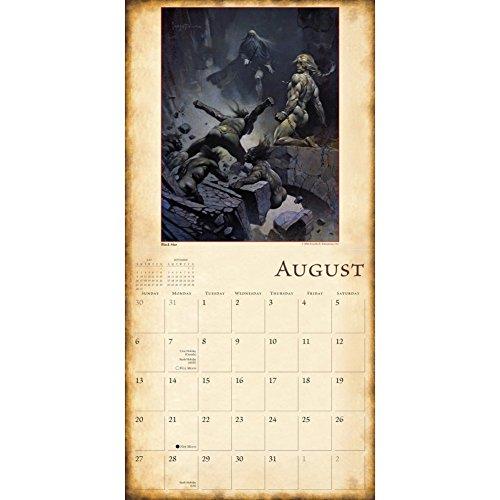 The Fantasy Art Of Frazetta 2017 Wall Calendar