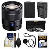 Sony Alpha NEX E-Mount Vario-Tessar T 16-70mm f/4.0 ZA OSS Zoom Lens + Battery & Charger + 3 Filters Kit for A7, A7R, A7S Mark II, A5100, A6000, A6300