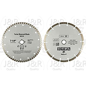 Dewalt dw4712b 7 inch high performance diamond masonry blade 2 pack diamond 7 14 saw blades fits bosch circular saw greentooth