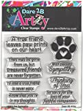 Dare 2B Artzy Pet Sympathy Clear Cling Rubber Stamps