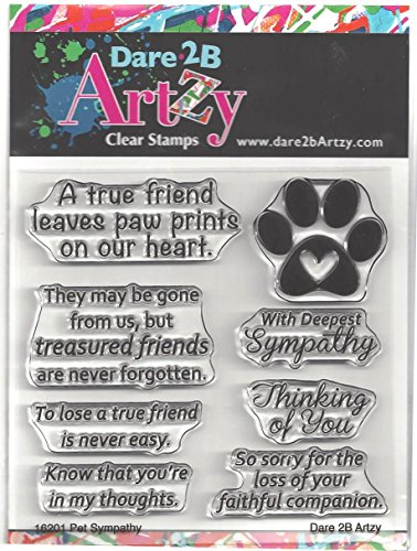 (Dare 2B Artzy Pet Sympathy Clear Cling Rubber Stamps)