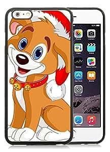 Custom-ized Phone Case iPhone 6 Plus Case,Christmas Dog Black iPhone 6 Plus 5.5 TPU Case 21