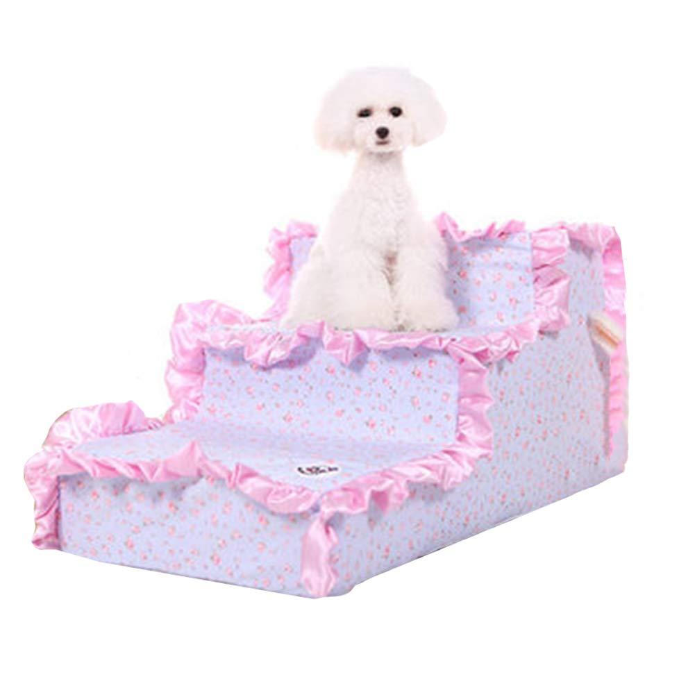 il prezzo più basso Scale per animali domestici domestici domestici Portatili per Prodotti per Cani e Gatti Scale per Scale Confortevoli per Gatti di Piccole Dimensioni Fino a 45 libbre (colore   Style-1)  presa di fabbrica