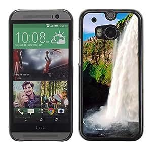 TopCaseStore / la caja del caucho duro de la cubierta de protección de la piel - Waterfall Sunshine - HTC One M8