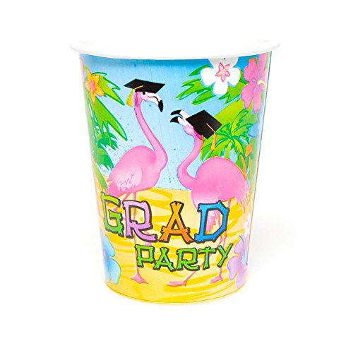 Grad Flamingo 9 oz. Cups