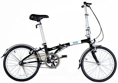 Sale!! Ford Taurus 1.0 20 Inch Single Speed Folding Bicycle 11 Black
