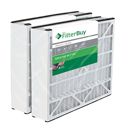 2 - 20x25x5 Trion Air Bear Aftermarket 255649-102 Pleated AC Furnace Air Filters. AFB Silver MERV 8. Manufactured by FilterBuy in the USA.