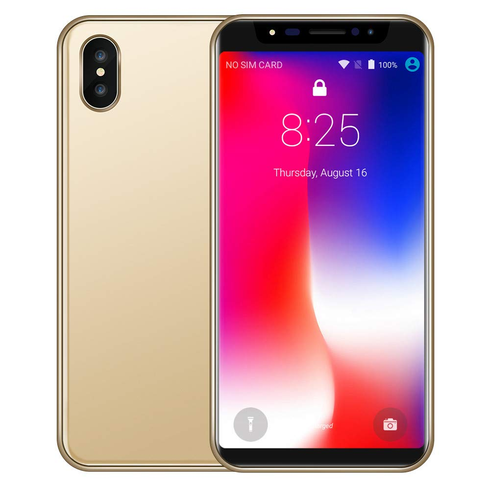 High Configuration Unlock Phone,5.8 inch Dual HD Camera Smart Phone Android 7.1 IPS Full Screen 2GB+16GB GPS 3G WiFi Phone (8X, Gold) by Dacawin_Smart Phones