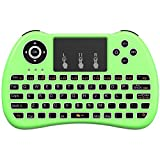 Aerb Backlit 2.4GHz Wireless Mini Keyboard H9 Pro, Mouse Toupad Combo, Portable Multi-media Remote Control for Android TV Box, HTPC, IPTV, PC, Pad and More - Green(Pure White Backlight)