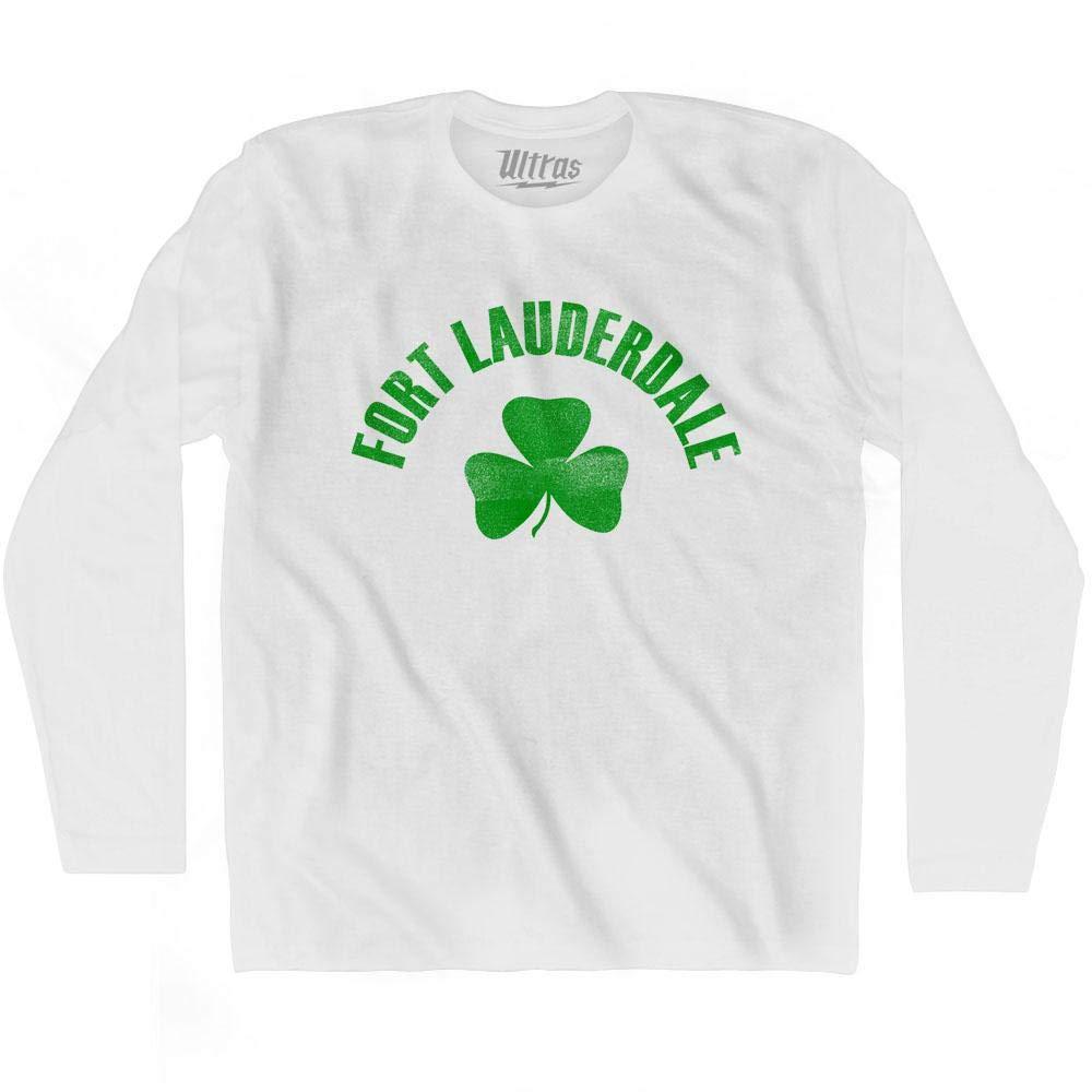 Fort Lauderdale City Shamrock Cotton Long Sleeve T-Shirt