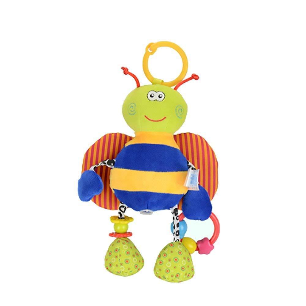 Hemore Bebé Productos 1 pieza bebé tira de golpes para colgar carrito de bebé carrito de cama cochecito de peluche juguete (lindo azul abeja): Amazon.es: ...