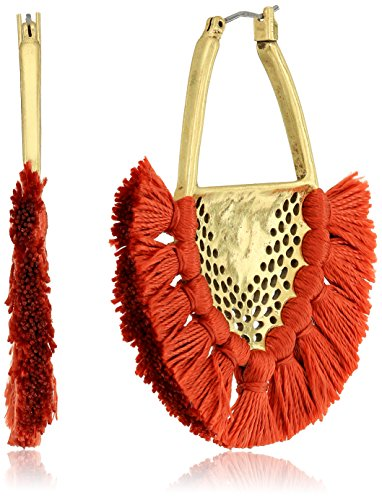 Lucky Brand Openwork Statement with Tassels Earrings