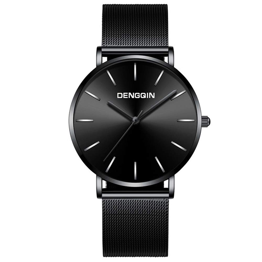 Men Business Watches,Becoler Luxury Mens Black Dial Stainless Steel Date Quartz Analog Sport Wrist Watch,Gift,2019 New Fashion