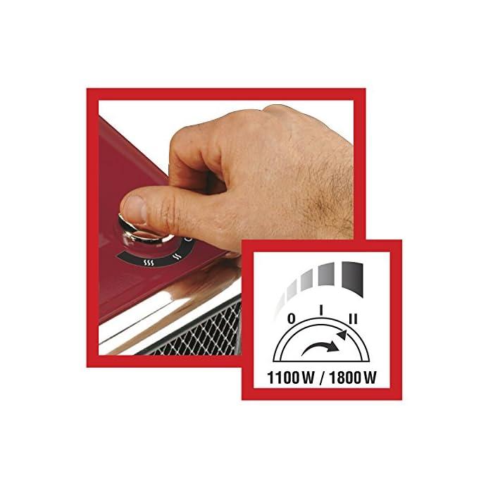 51 fl0qfuZL Componentes incluidos: 1 ventilador Opción de 2 posiciones de calor: 1100 y 1800 vatios Tecnología de calefacción cerámica con termostato variable para garantizar una temperatura ambiente constante