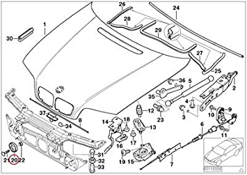 bmw genuine engine hood mounting parts eccentric engine partment 2001 BMW 325I Engine Diagram image unavailable