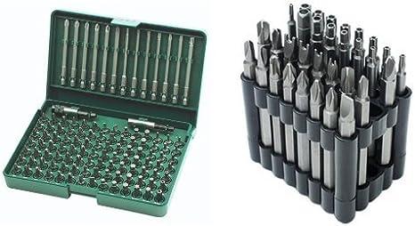 Brüder Mannesmann M29830 - Juego de brocas en caja de plástico (113 piezas) + M29732 - Juego de puntas de destornillador, 32 piezas, con puntas especiales: Amazon.es: Bricolaje y herramientas