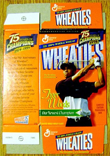 Tiger Woods Wheaties box Mini 5x7 unfolded (Golf Legend) with display (Tiger Woods Wheaties Box)