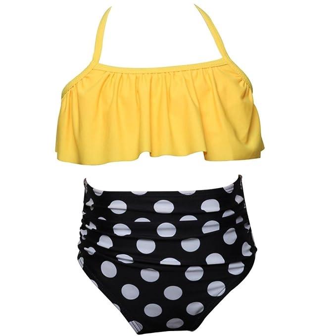 e2cc9f8fa Bañador para niña K-youth® Verano Niña Conjunto de Bikini Niñas Traje de Baño  Niña Bikini Conjunto Barato Bañador de Dos Piezas para Niña Bebé de  Vacaciones ...