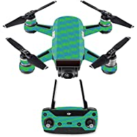 Skin for DJI Spark Mini Drone Combo - Sharp Chevron| MightySkins Protective, Durable, and Unique Vinyl Decal wrap cover | Easy To Apply, Remove, and Change Styles | Made in the USA