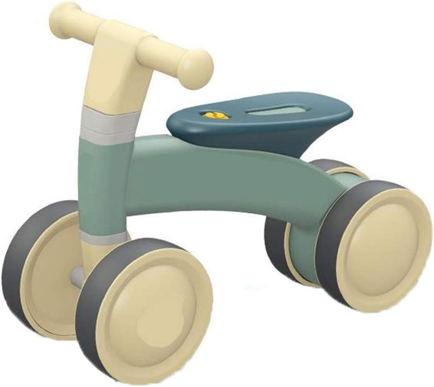Laishutin Equilibrio de Bicicletas For niños de 1 a 3 Años de Edad No Pedal de instalación de Cuatro Ruedas del Deporte Robusto Balance de Bicicletas Gratuito Bicicletas Balance bebé para niños