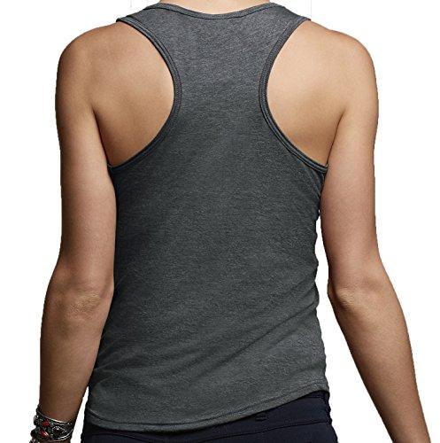 DesignDivil - Camiseta - para mujer a. Heather Dark Grey