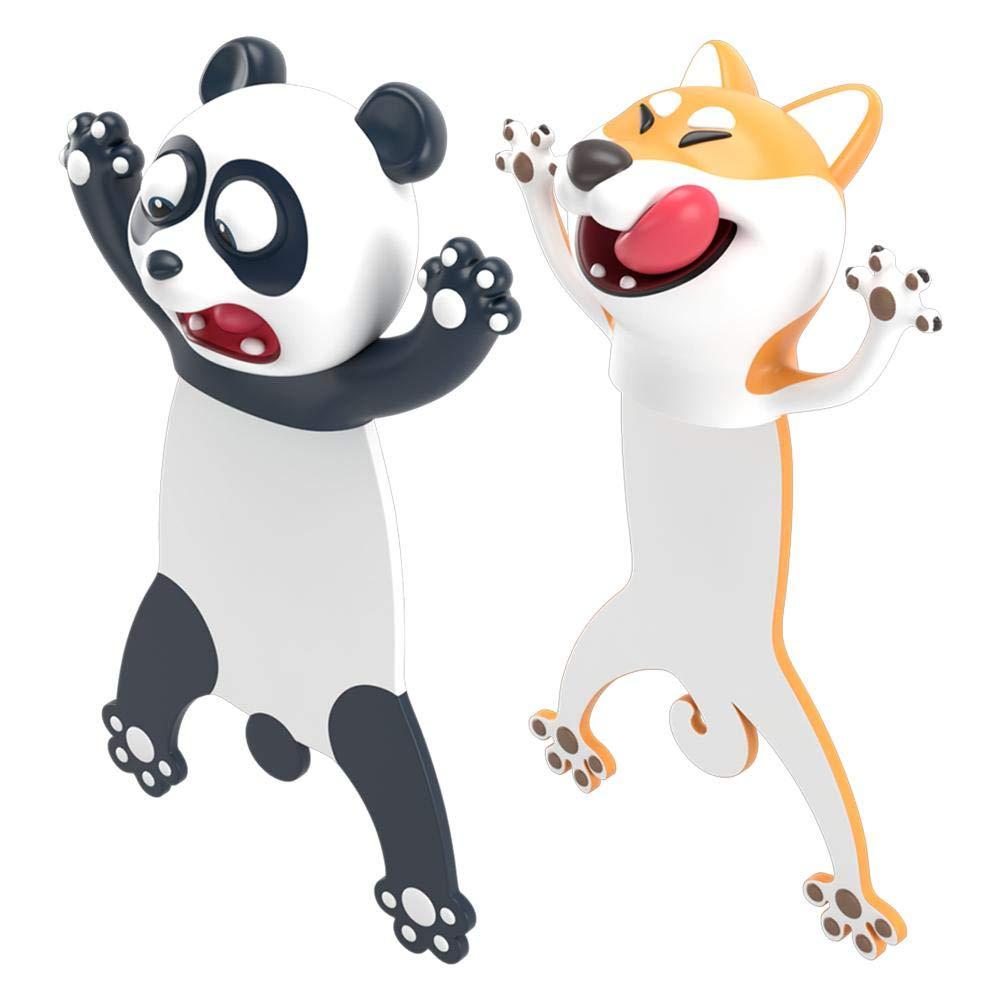 Marcap/áginas 3D de animales Ocean Series Seal pulpo gato panda y Shiba Inu de papeler/ía creativa para ni/ños marcadores de regalo gato