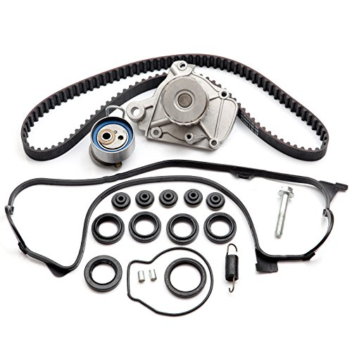 ECCPP Fits for Honda Civic DX EX GX LX 1.7 Timing Seal D17A Timing Belt Kit Valve Cover Gasket Water Pump ()