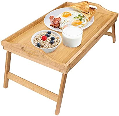 Escritorio portátil con soporte portátil Mesa de desayuno plegable ...