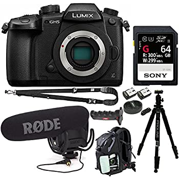 Panasonic Lumix GH5 4K Mirrorless Interchangeable Lens Camera (Body Only) Bundle