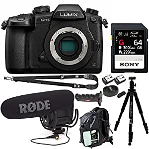 Panasonic Lumix GH5 4K Mirrorless Interchangeable Lens Camera (Body Only) Bundle