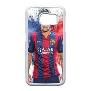 Edge caso Neymar Jr Z7V86E8PY funda Samsung Galaxy S6 funda V4DD03 blanco