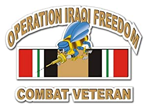 """MAGNET US Navy Seabees Operation Iraqi Freedom Combat Veteran Decal Magnetic Sticker 10"""" from MilitaryDecals23"""